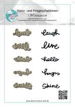 Stanz - und Prägeschablone Englische Worte 2