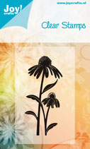 Joy Crafts Echinacea Clear Stamp