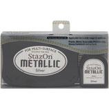StazOn Metallic Solvent Ink Kit Silver