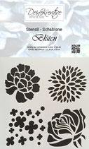 DKW Stencil - Schablone Blüten