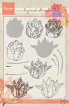 Layered Stamp Tulpe Marianne Design