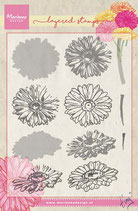 Layered Stamp Gerbera Marianne Design
