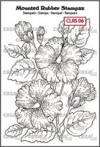 Crealies Rubber Stamp Hibiscus