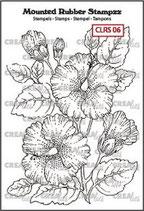 Crealies Rubber Stamp Hibiscus