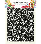 Flower-Swirl Stencil A5 - Schablone Blumen Wirbel