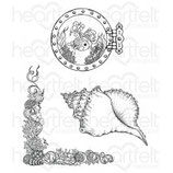 Coral Reef Collage Stamp - Stempel