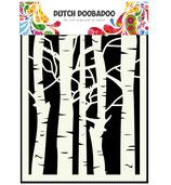 Birch Trees  Stencil A5 - Schablone Birken Bäume