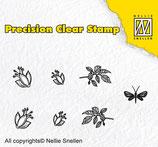 Nellie Snellen Precision clear stamps Nature Fuchsia
