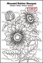 Crealies Rubber Stamp Sunflower