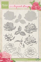 Layered Stamp Rose Marianne Design