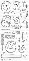 My Favorite Things Happy Hedgehogs Clear Stamps - Stempel Igel