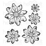 Tattered Blossoms Cling Stamp Stempel