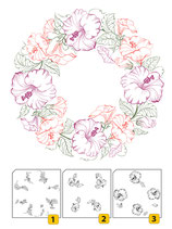 Nellie Snellen Layered Clear Stamps Wreath