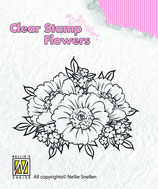 Nellie Snellen Layered Clear Stamps Anemonen