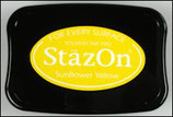 StazOn Solvent Ink Pad Black Sunflower