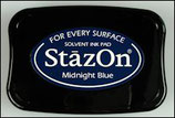 StazOn Solvent Ink Pad Midnight Blue