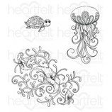 Under the Sea Coral Stamp - Stempel