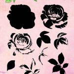 Studio Light Clear Layered Stamps Blumen 3 Rose