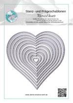 Stanzschablonen Pierced Hearts