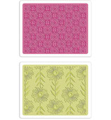 Sizzix Textured Impressions Embossing Folders - Frame & Love Set