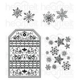Snow Kissed Flakes and Tag Cling Stamp Set - Stempel