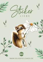 Sticker – Streifenhörnchen