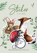 Sticker – Waldtiere Set Sommer
