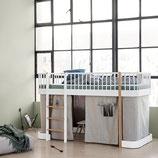 Oliver Furniture halbhohes Bett oder Hochbett mit Leiter vorne