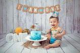 Smashcake -1 Geburtstagskuchen für das Baby