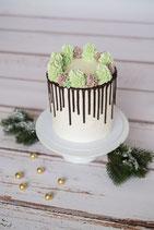 Christmas Drip Cake Grün/Braun