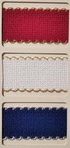 BORDO Assia bianco e Lurex mm. 103