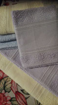 Coppia asciugamani, viso + ospite ETNA  color  lilla