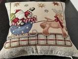 Cuscino Babbo Natale e Rudolph