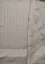 Due (2) canovacci misto lino color naturale