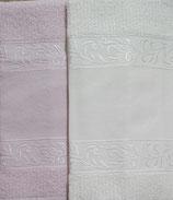 COPPIA ASCIUGAMANI modello Verona colore: BURRO (colore sulla destra)