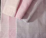 Coppia asciugamani, viso + ospite ETNA  color  ROSA ANTICO