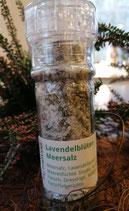 Lavendelblüten MeerSalz, in der Mühle