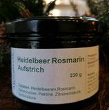 Heidelbeeraufstrich mit Rosmarin , 200g