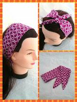 Haarband zum knoten lila Muster