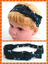 Haarband blau Sterne mit Schleife