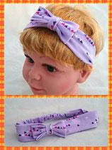 Haarband Lila Dreieck mit Schleife