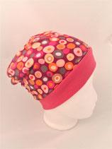 Beanie Kreise pink