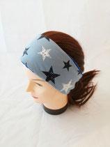 Stirnband Sterne blau