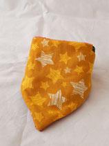 Dreieckstuch Sterne gelb/orange mit Glitzer