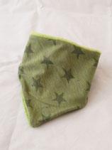 Dreieckstuch grüne Sterne