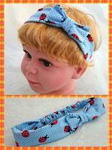 Haarband blau Marienkäfer mit Schleife