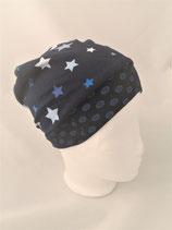Beanie dunkelblau mit Sternen
