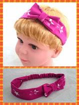 Haarband pink Sterne mit Schleife