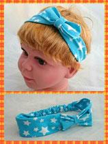 Haarband blaue Sterne mit Schleife