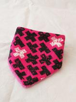 Dreieckstuch Tetris pink